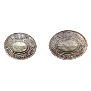 Late 19th Century Repousse Plaques - a Pair For Sale