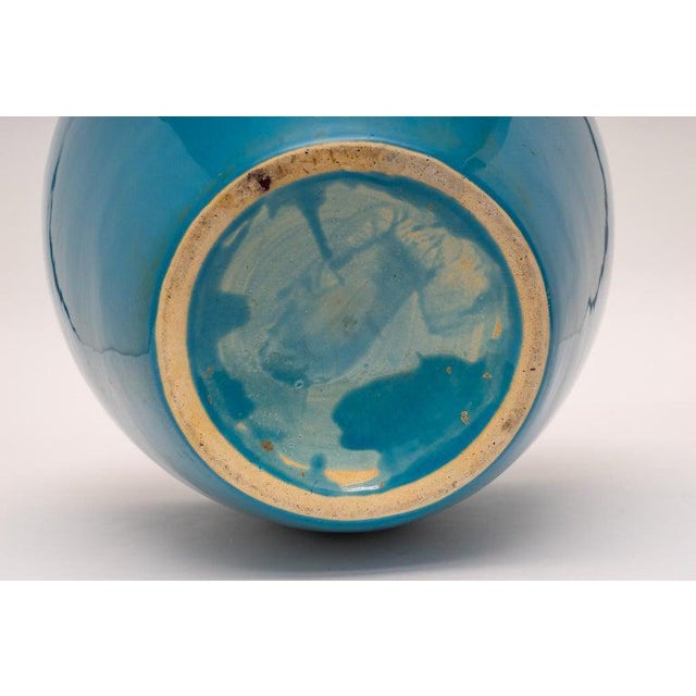 Mid 20th Century Mid-20th Century Peking Blue Vase in Glazed Pottery, Italy For Sale - Image 5 of 6