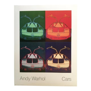 1980s Pop Art Poster of Mercedes Benz Type C by Andy Warhol For Sale