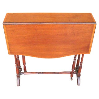 English Mahogany Drop-Leaf Side Table For Sale