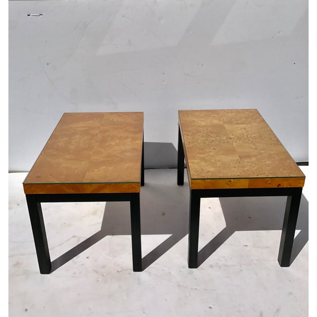 Milo Baughman Burl Wood Side/ End Tables - A Pair - Image 10 of 10