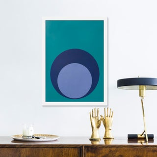 """Small """"Double Dot in Blues"""" Print by Stephanie Henderson, 15"""" X 20"""" Preview"""