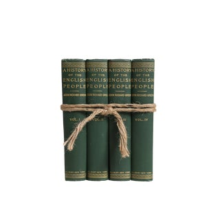 History of English People : Vintage Gift Set of Four Decorative Books
