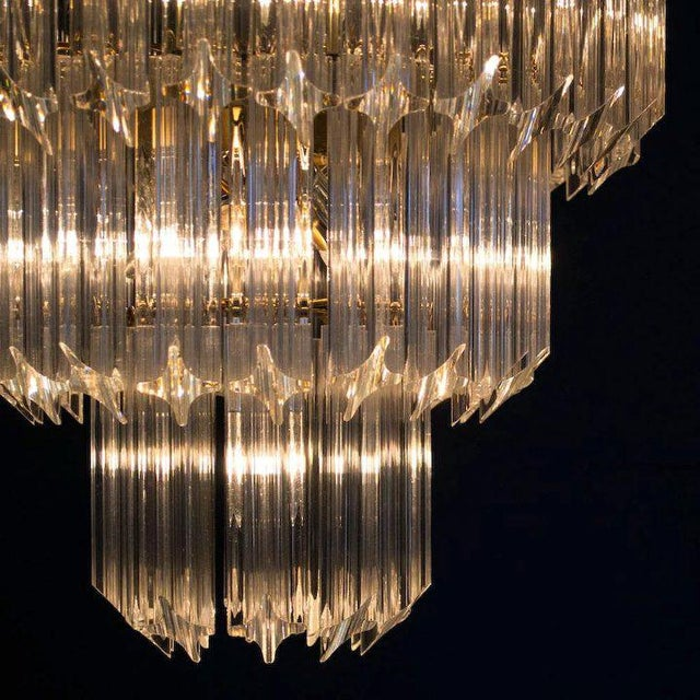 1960's Lucite Cascading Chandelier For Sale In Denver - Image 6 of 7