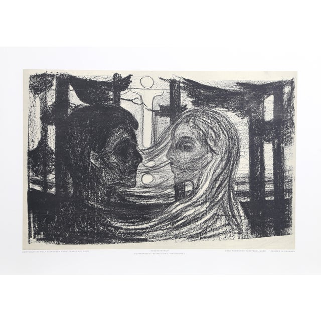 1960s Edvard Munch, Attraction Ii, Poster For Sale - Image 5 of 5