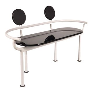 Memphis Style Bench, Attributed to Ettore Sottsass, circa 1980