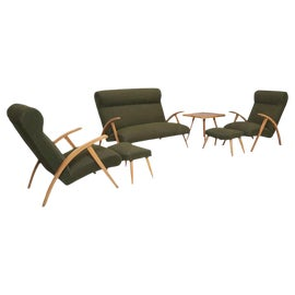 Image of Brown Chair and Ottoman Sets