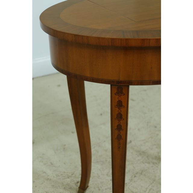 Brown Maitland Smith Satinwood Adam Style Vanity Table For Sale - Image 8 of 12