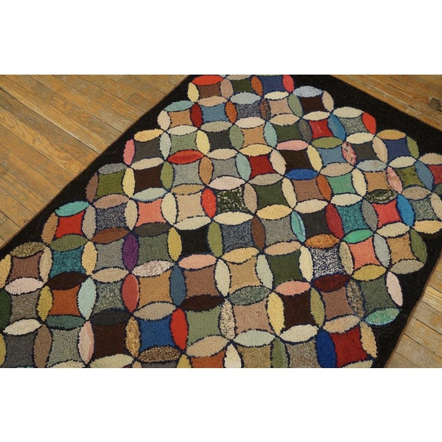 """Antique American Hooked Rug 3'7"""" X 8'9"""" For Sale - Image 11 of 12"""