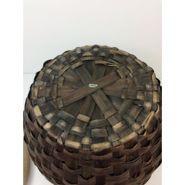 Vintage Italian Rosenthal Netter Round Wicker Ottoman - Image 9 of 10