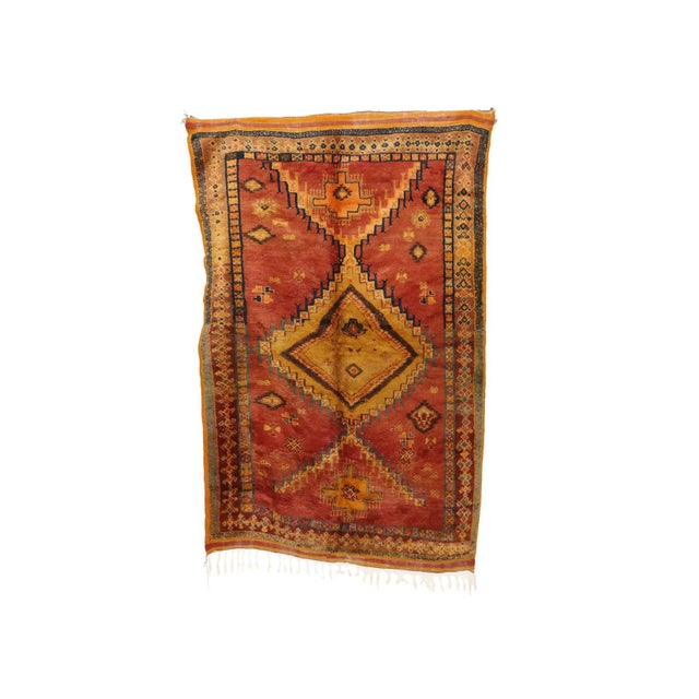 """Taznakht Moroccan Rug, 5'1"""" X 8'2"""" Feet For Sale - Image 6 of 6"""