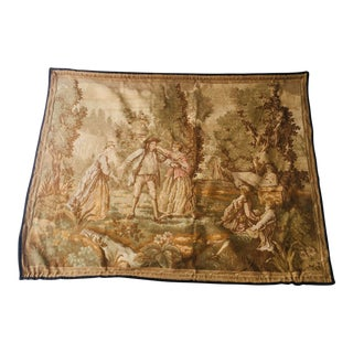 1950s Vintage Classic Scenery Belgian Wall Tapestry For Sale