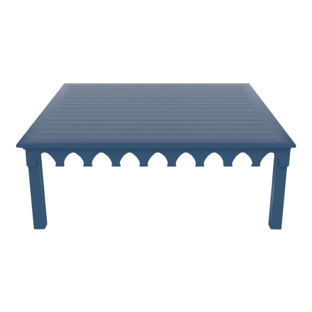 Oomph Ocean Drive 42 Outdoor Coffee Table, Blue For Sale