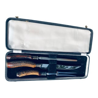 19th Century English Sheffield Carving Set - Set of 3 For Sale