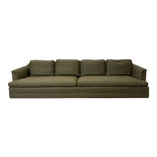 Chinoiserie Avocado Green Sofa For Sale