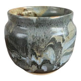 1970's Nels Mears Studio Pottery Planter Pot For Sale