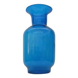 Blue Oversized Blenko Floor Vase