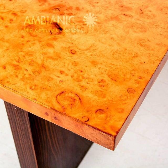 Wood Andrew Szoeke Burl & Macassar Coffee Table For Sale - Image 7 of 8