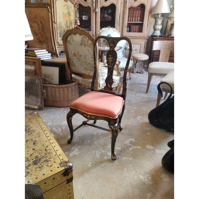 Asian Pair of Chinoiserie Chairs For Sale - Image 3 of 12