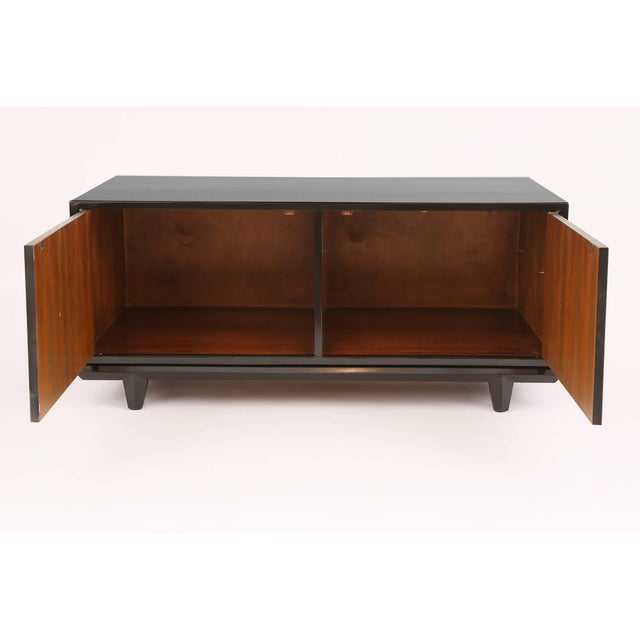 Mid-Century Modern Ebonized Petite Chest by Monteverdi Young For Sale - Image 3 of 5