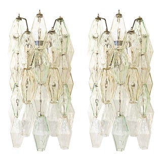Venini Poliedri Wall Lights, Italy, 1960s