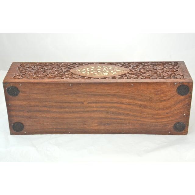 Carved Wood & Bone Letter Holder For Sale In Chicago - Image 6 of 9