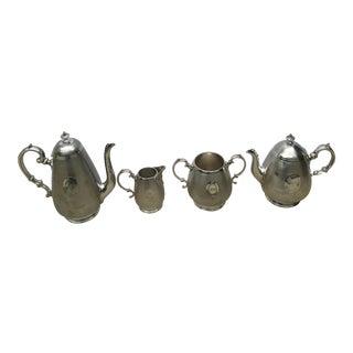 Antique Sheffield W.M Sheffield Harrison Silver Plated Four Piece Victorian Tea / Coffee Set - 4 Piece Set For Sale