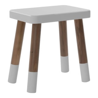 Tippy Toe Kids Chair in Walnut and Gray Finish For Sale