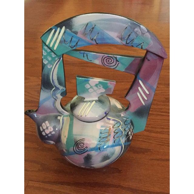 Tom Hubert Handmade Porcelain Teapot - Master Ceramist Professor Fine Arts For Sale In Baltimore - Image 6 of 11