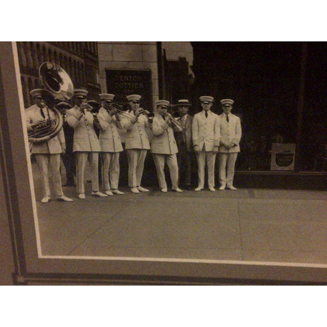 """Vintage """"S.S. Leviathan Steamship Liner Band"""" Photograph For Sale - Image 5 of 5"""