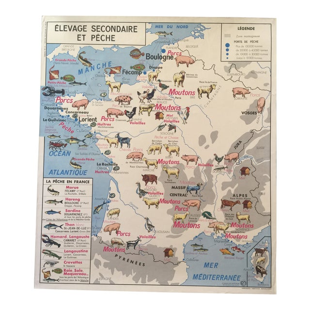 Vintage French Regional Food Poster For Sale
