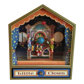 Vintage Music Box With 3 Animated Clowns Plays Bolero