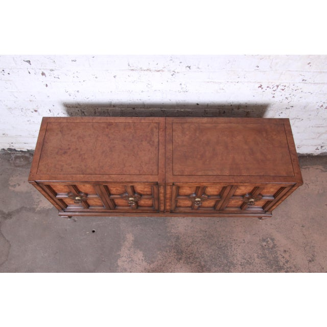 Brown Mastercraft Burl Wood Sideboard For Sale - Image 8 of 13