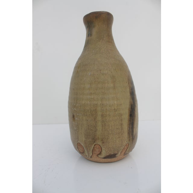 Mid-Century Modern Studio Pottery Drip Glaze Bud Vase by Wonen For Sale - Image 3 of 8