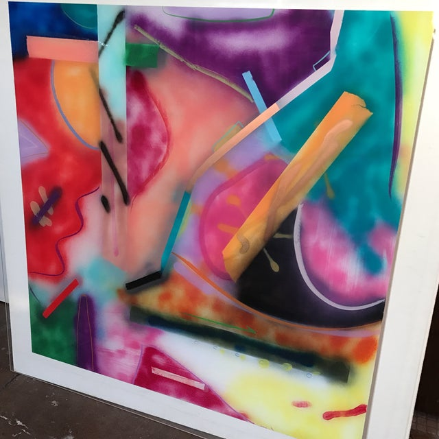 Jack Schulz Abstract Reverse Painting on Acrylic - Image 4 of 10