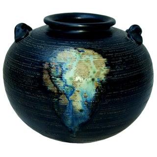 Shiragaraki Yaki Japanese Art Pottery Vase by Shiho Kanzaki For Sale