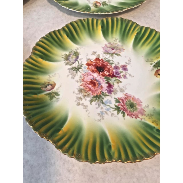 Numbered Habsburg China Made in Austria. A set of beautiful vibrant colored dessert plates from Austria in sets of 2. One...