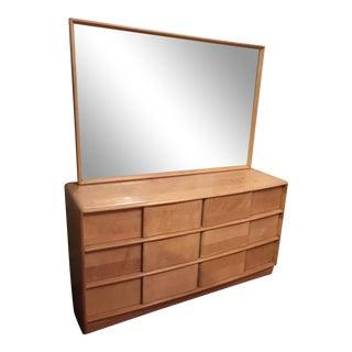 Mid-Century Modern Dresser With Large Mirror