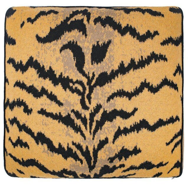 Contemporary Calabria Cashmere Pillow, Mustard For Sale - Image 3 of 3