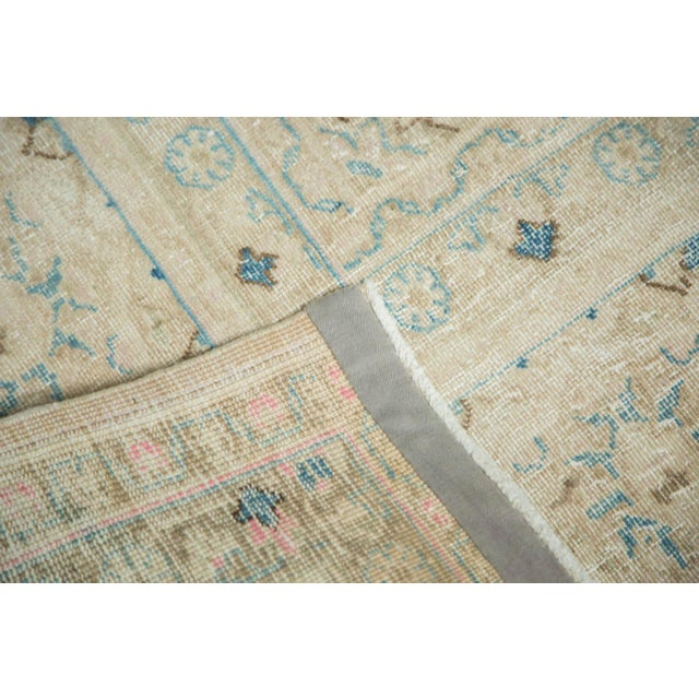 """White Vintage Distressed Meshed Carpet - 9'9"""" x 12'10"""" For Sale - Image 8 of 9"""