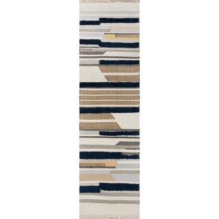 Novogratz by Momeni Indio Feliz in Navy Rug - 2'X8' Runner For Sale