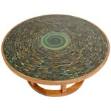 Image of Ceramic Tile-Top Coffee Table by Gordon and Jane Martz For Sale