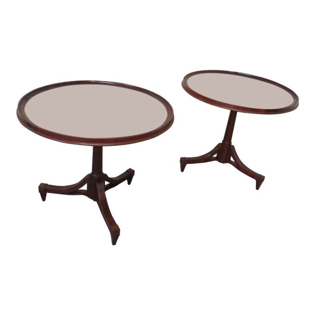 Mid Century Baker Furniture Center Tables - a Pair For Sale