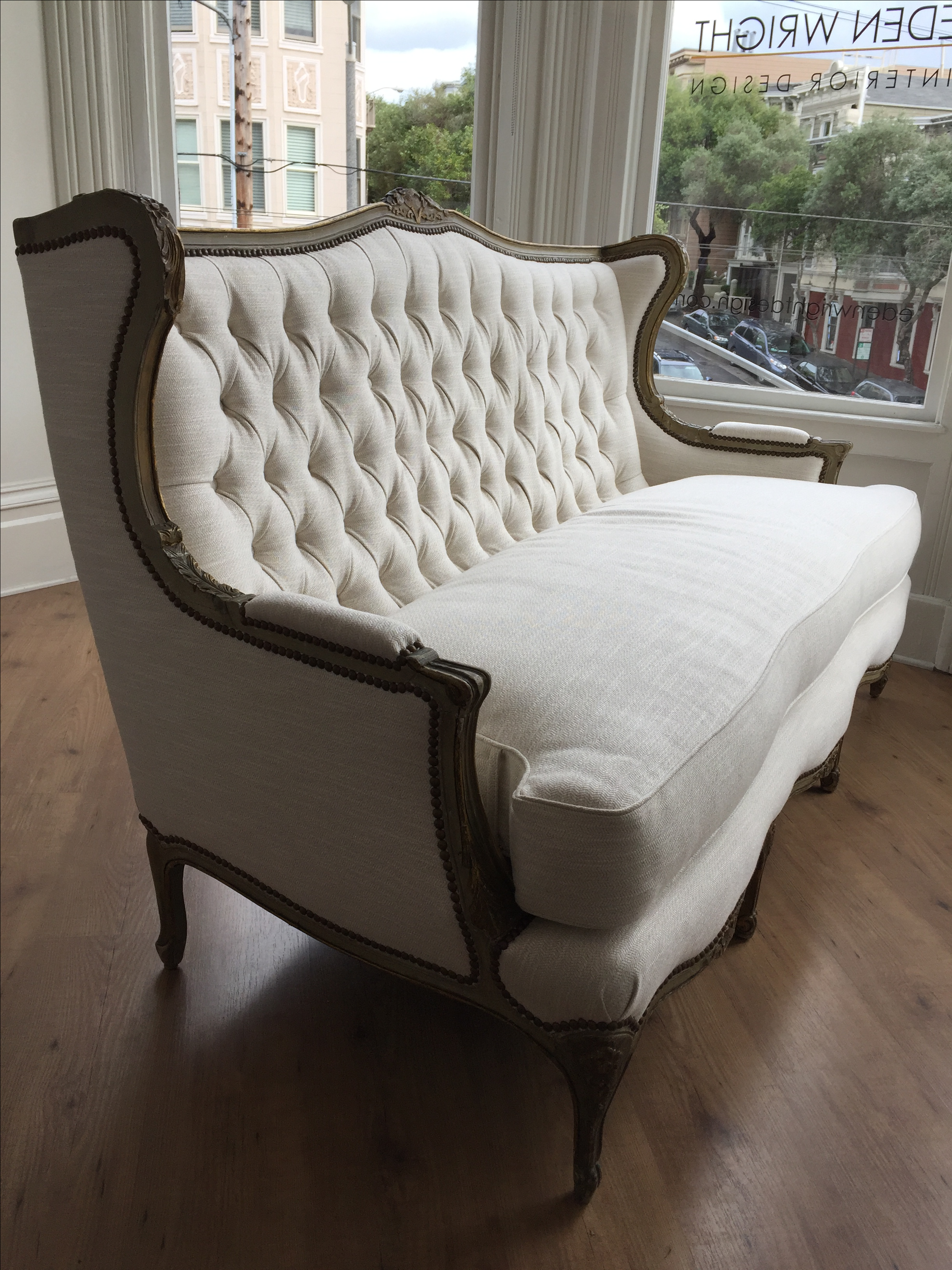 Antique French Tufted Settee From The Clift Hotel In San Francisco Circa  1900   Image 3