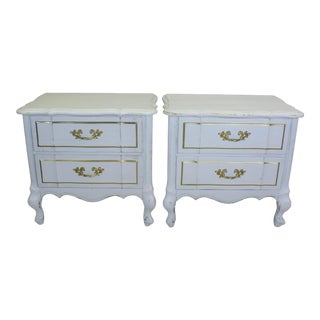 White French Provincial Nightstands - a Pair