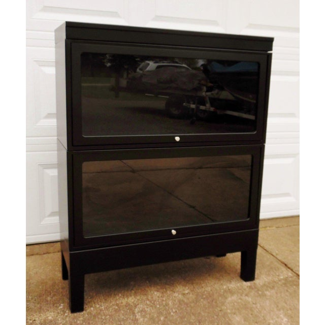 Glass Globe Wernicke Barrister Cabinet Bookcase For Sale - Image 7 of 7