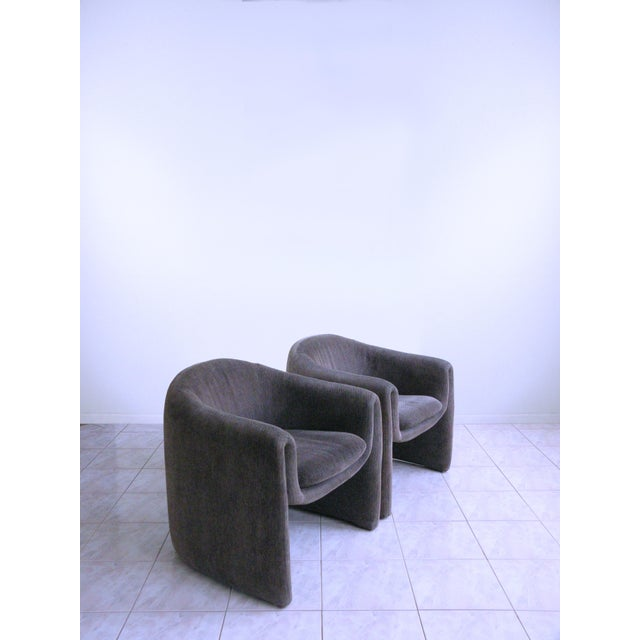 Vladimir Kagan for Preview Biomorphic Freeform Minimalist Armchairs - a Pair For Sale - Image 11 of 11