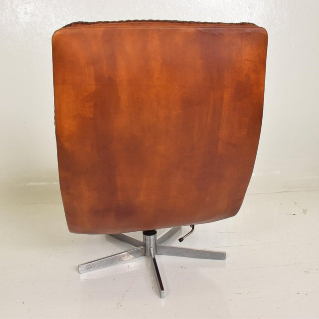 1960s Mid Century Modern Pair of James Bond Arm Chairs by De Sede, Model S 231 For Sale - Image 5 of 11