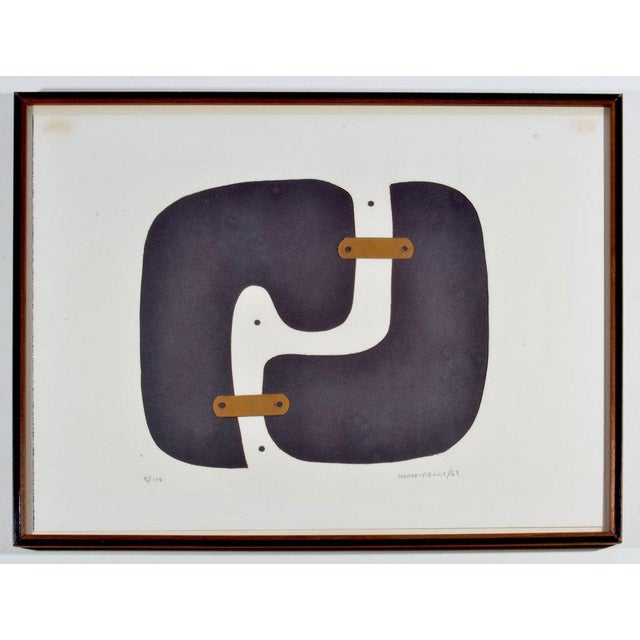 Conrad Marca-Relli Abstract Framed Collage, Circa 1969 For Sale In Detroit - Image 6 of 6