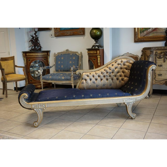 Vintage Hand Carved Chaise Lounge - Image 4 of 11